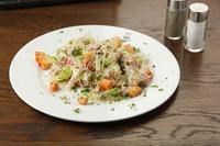 Салат с грудинкой и грибами