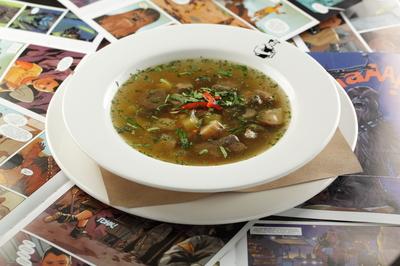 Суп с бараниной и грибами