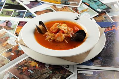Рыбацкая похлебка с морепродуктами